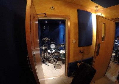 Drum Booth in the Studio - London UK